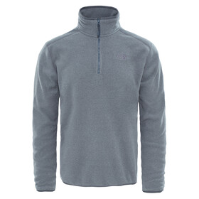 The North Face M's 100 Glacier 1/4 Zip TNF Medium Grey Heather/High Rise Grey